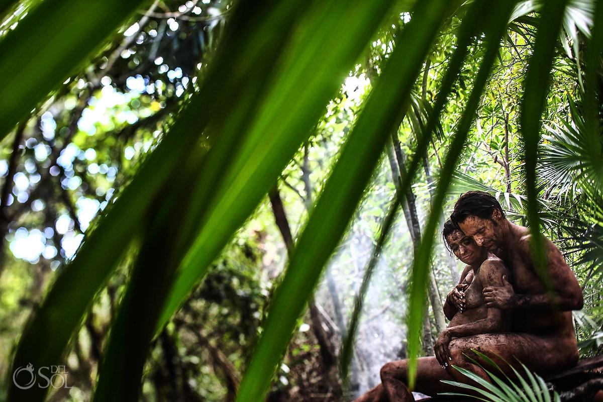 earth pregnancy maternity couples photo mexican cenote jungle