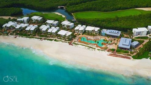 Drone photography view Hyatt Andaz Mayakoba Resort Riviera Maya Mexico