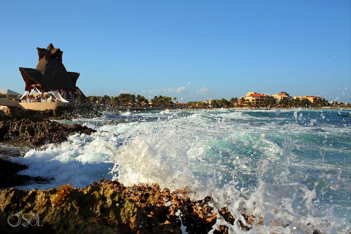 Ocean Front gazebo at Dreams Puerto Aventuras weddings