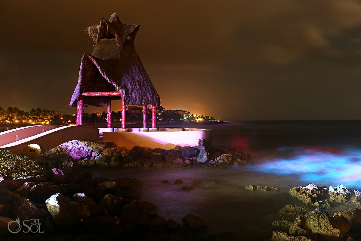 Dreams Puerto Aventuras Weddings Gazebo night view Riviera Maya Mexico