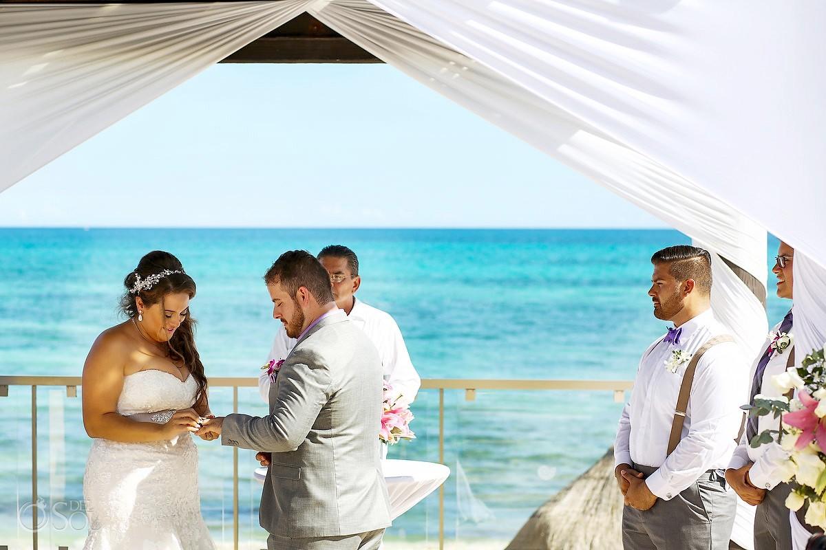 ring exchange destination wedding Now Jade Puerto Morelos Mexico