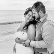 romantic black and white portrait destination wedding Now Jade Puerto Morelos Mexico