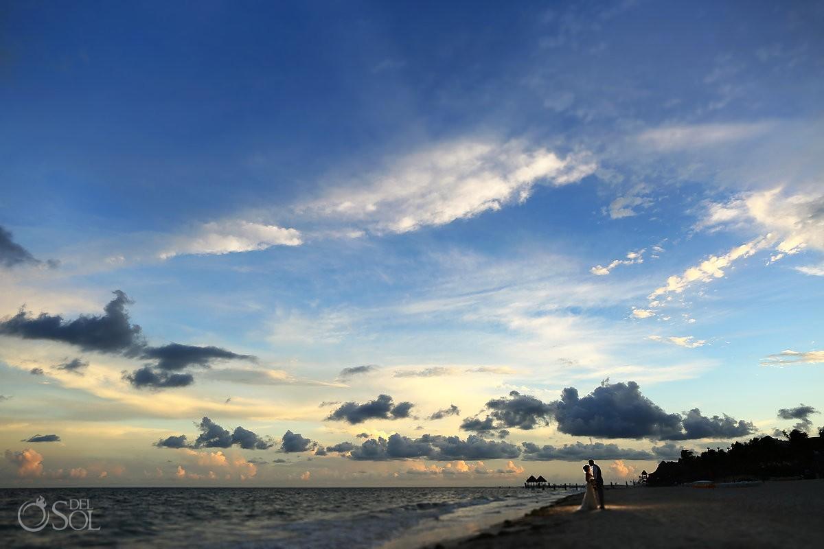 Amazing skies #cloudporn sunset destination wedding portrait destination wedding Now Sapphire beach, Mexico