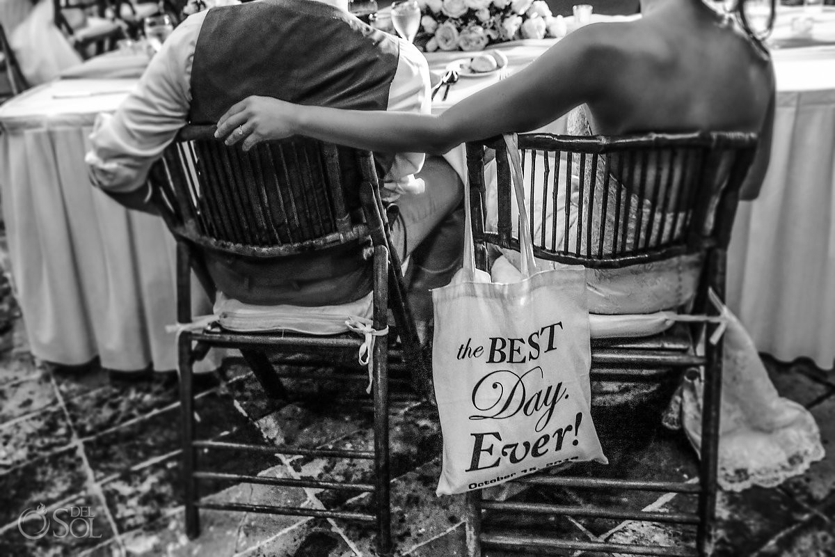 the best day ever tote bag destination wedding reception details Now Sapphire Mexico