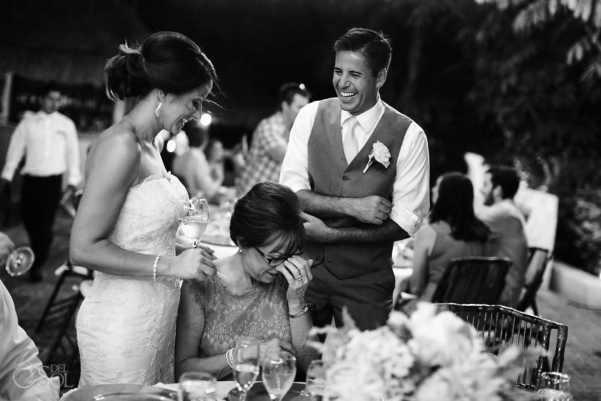 emotional speeches destination wedding reception poolside Now Sapphire Mexico