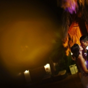 romantic night time wedding portrait Now Sapphire reception Mexico