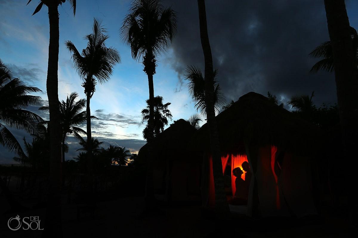 artistic destination wedding portrait Secrets Akumal Riviera Maya Mexico