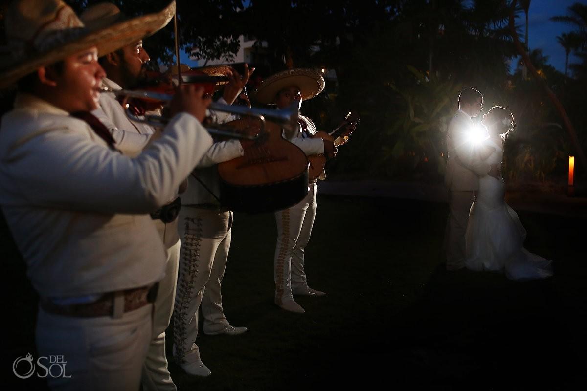 creative Mexican mariachi wedding portrait Secrets Akumal Riviera Maya Mexico
