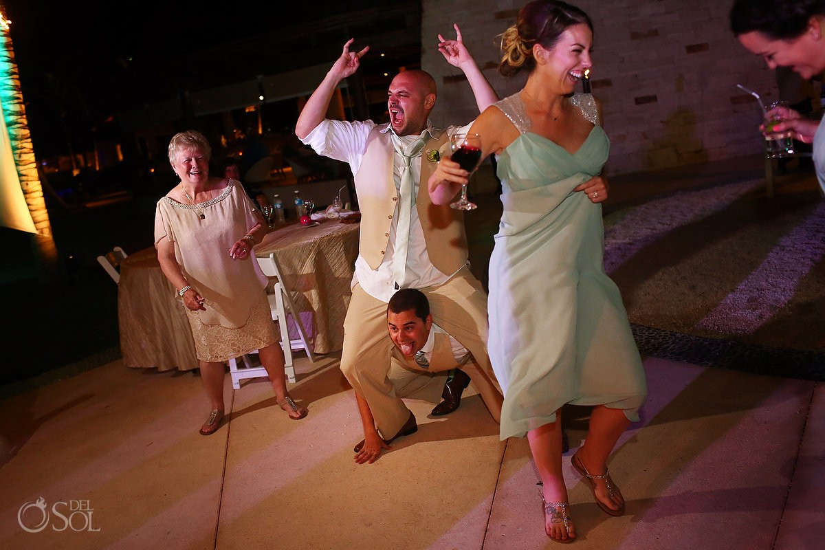 Riviera Maya Destination Wedding reception Secrets Akumal