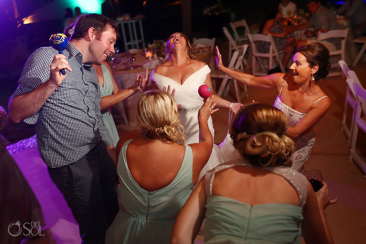 Riviera Maya Destination Wedding Secrets Akumal reception fun