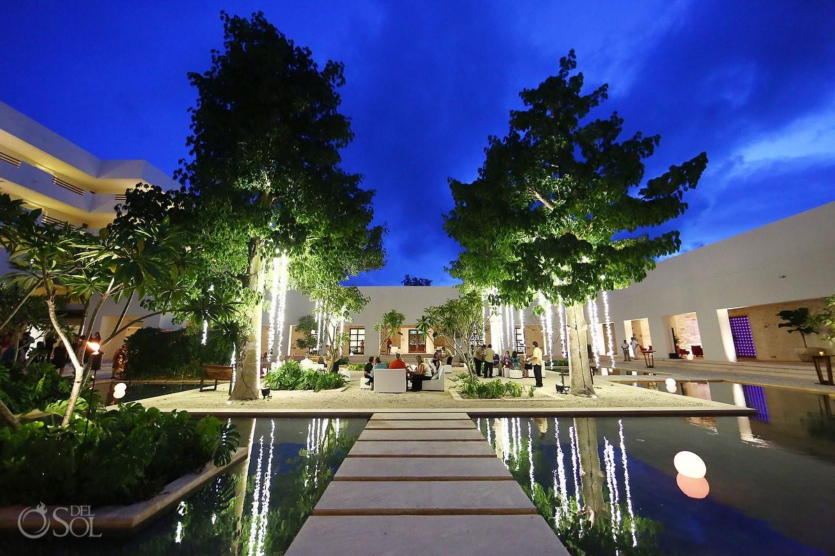 amazing night shoot reflection destination wedding location Secrets Akumal Riviera Maya Mexico