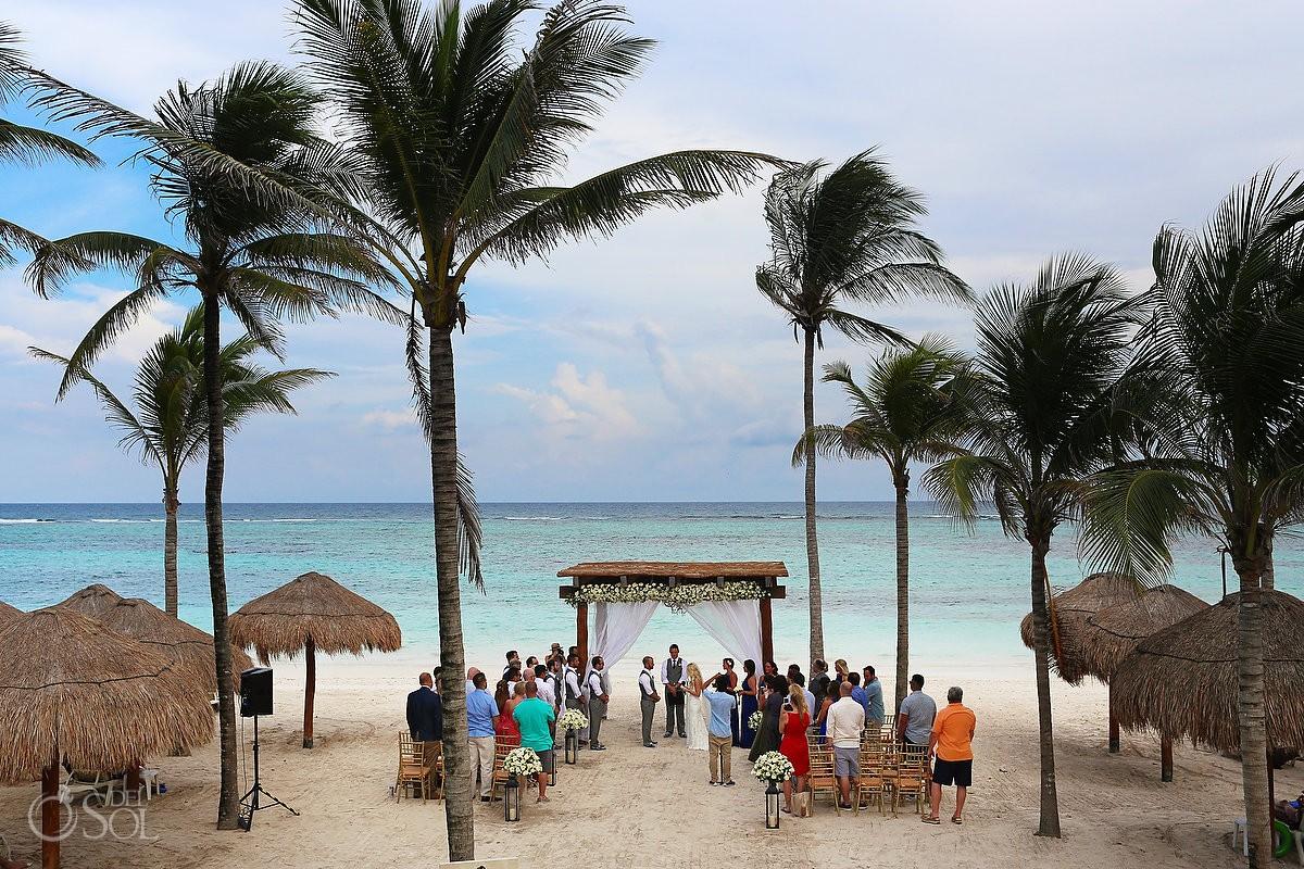 Wedding ceremony area amazing beach view Secrets Akumal Riviera Maya Mexico