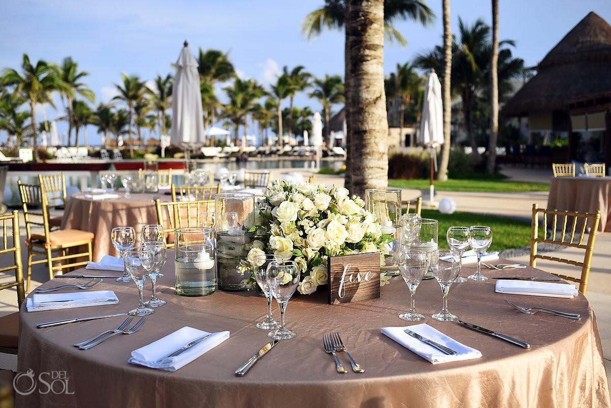 Wedding reception setup Secrets Akumal Riviera Maya Mexico