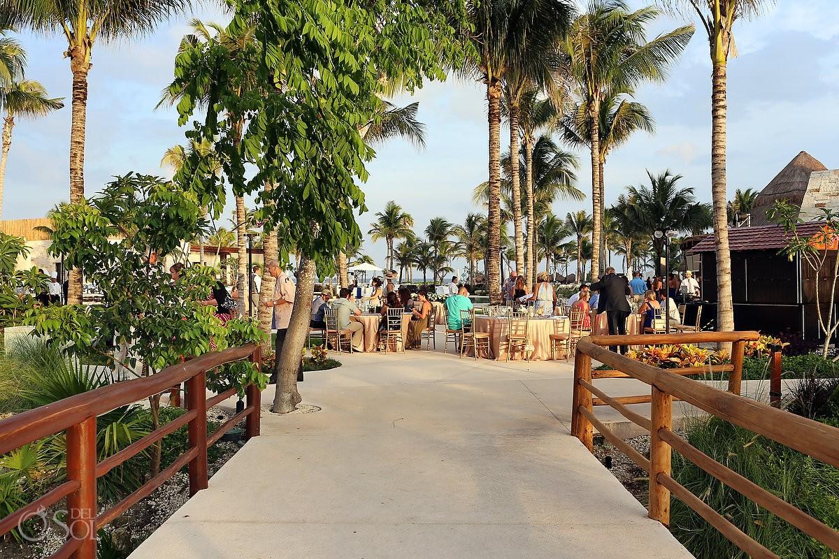 Wedding reception location Secrets Akumal Riviera Maya Mexico