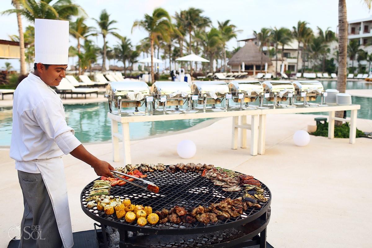 Wedding food ideas best service places Secrets Akumal Riviera Maya Mexico