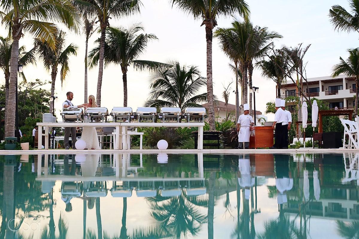 Wedding cocktail setup ideas Secrets Akumal Riviera Maya Mexico