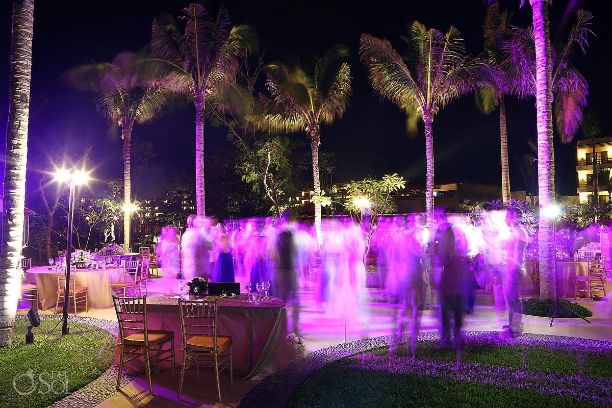 night long exposure wedding party time Secrets Akumal Riviera Maya Mexico