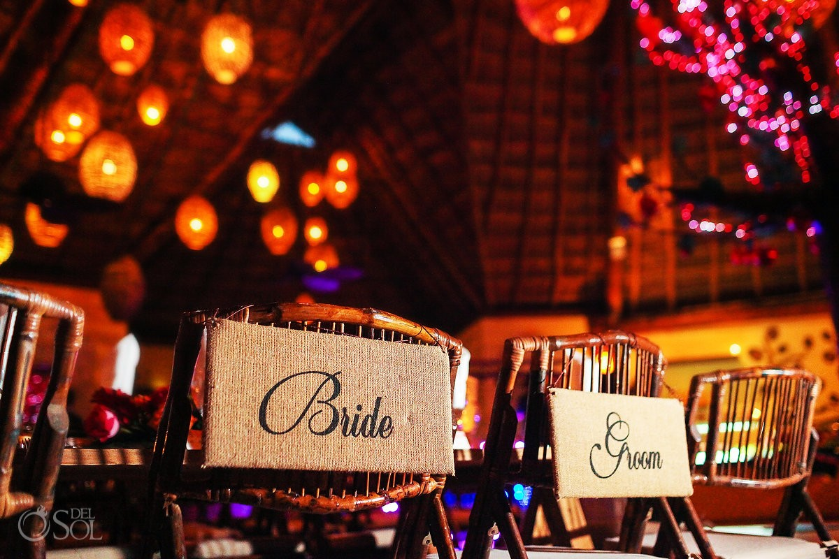 Reception decoration ideas Dreams Puerto Aventuras Weddings Riviera Maya Mexico