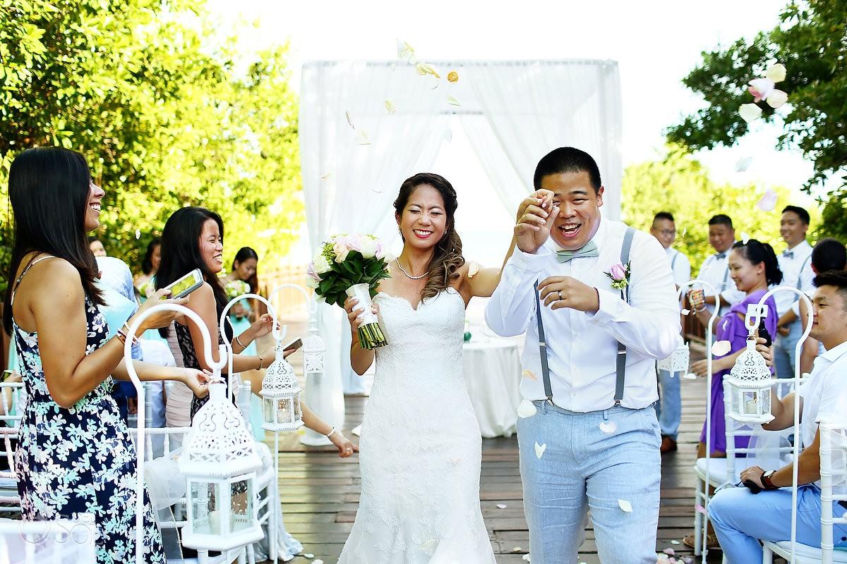 ceremony exit destination wedding Gabi bridge Paradisus Playa del Carmen Mexico
