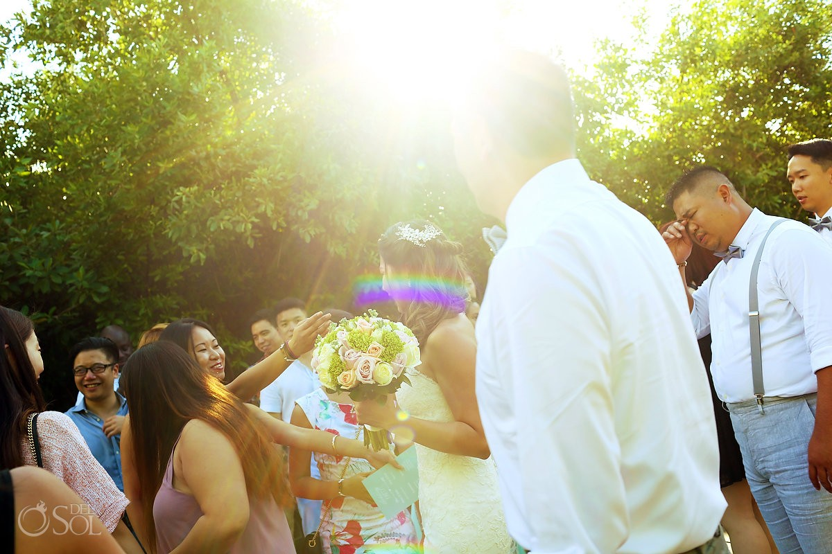 beautiful light destination wedding Gabi bridge Paradisus Playa del Carmen Mexico