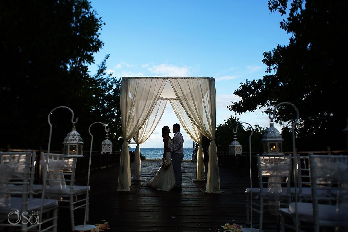 Gabi bridge wedding set up portrait, Paradisus Playa del Carmen Mexico
