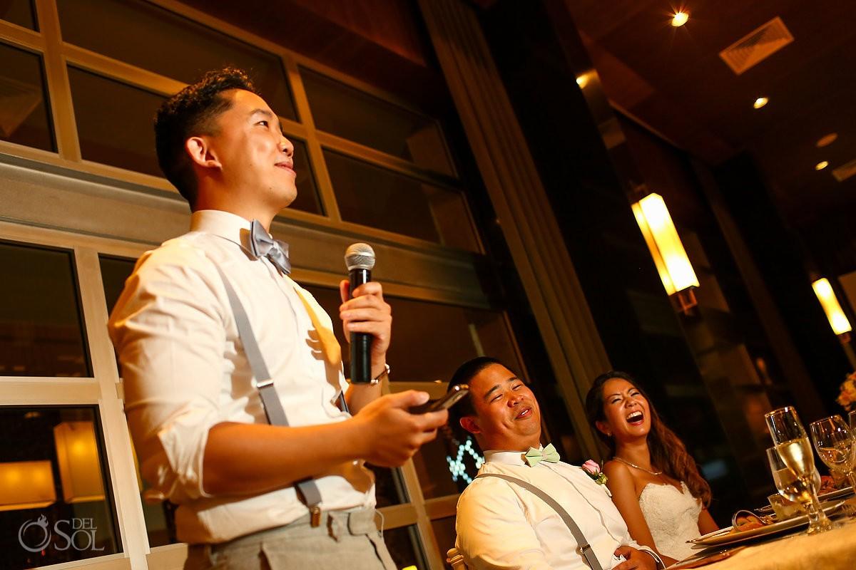 speeches toasts destination wedding reception Hadar Restaurant Paradisus Playa del Carmen Mexico