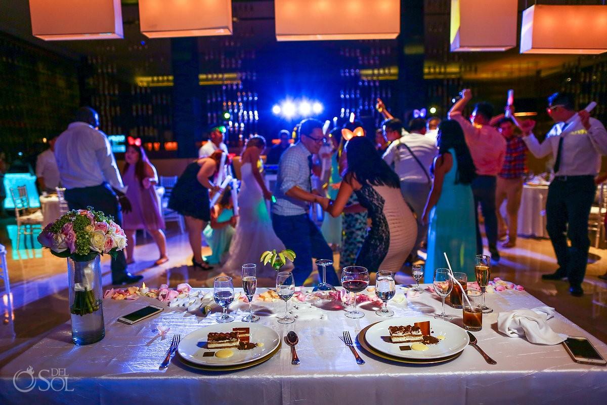 destination wedding reception Hadar Restaurant Paradisus Playa del Carmen Mexico
