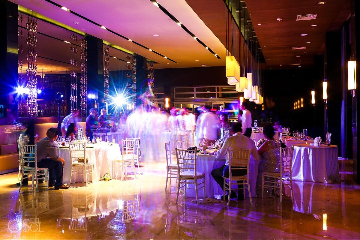 long exposure destination wedding reception Hadar Restaurant Paradisus Playa del Carmen Mexico