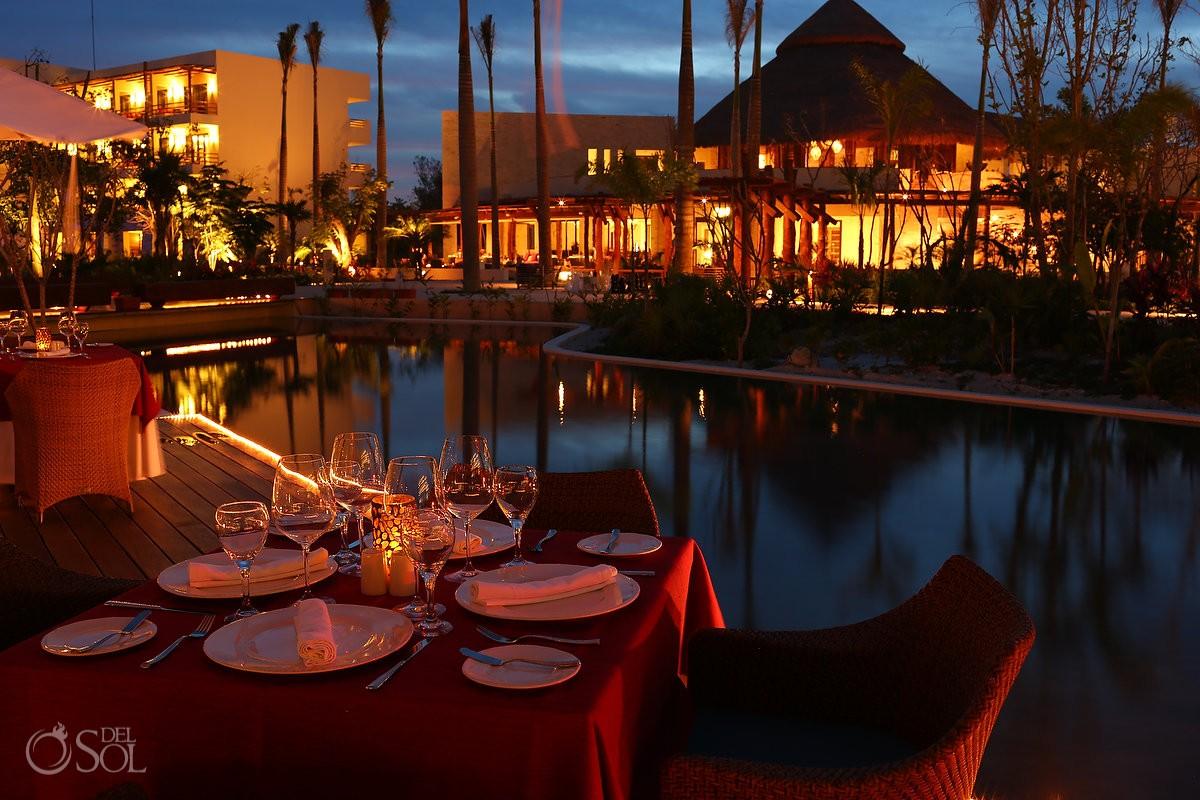 Night shoot wedding location Secrets Akumal Riviera Maya Mexico