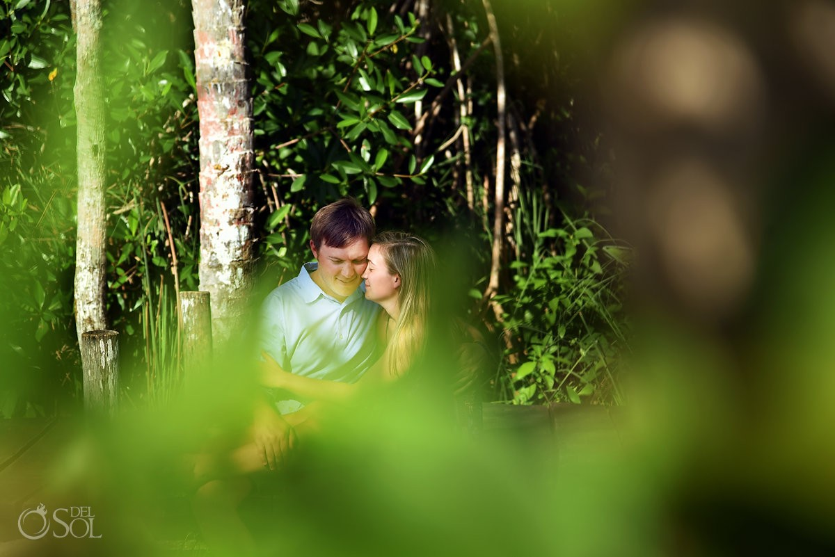 Tulum Engagement Portraits green jungle
