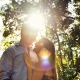 Tulum Engagement Portraits beautiful golden light flare romanic couple picture