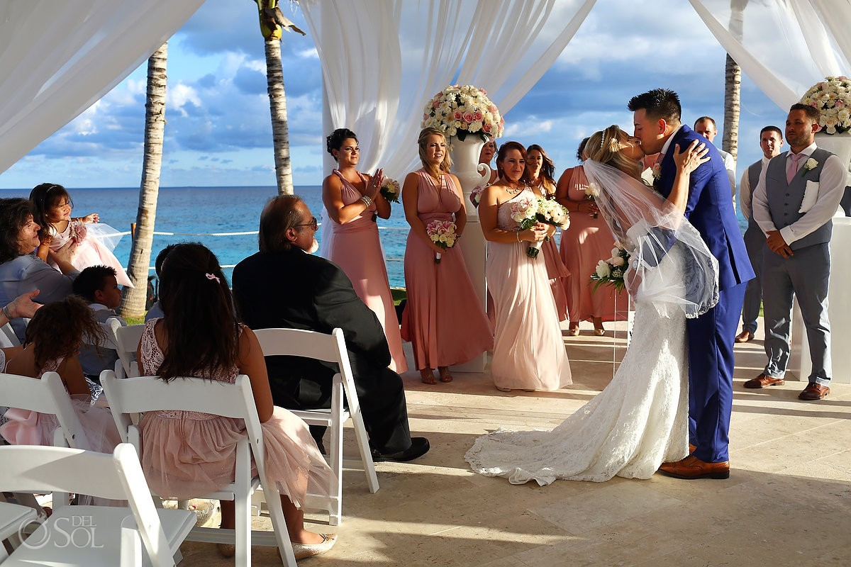 First Kiss Destination Wedding Hyatt Ziva Cliff Gazebo