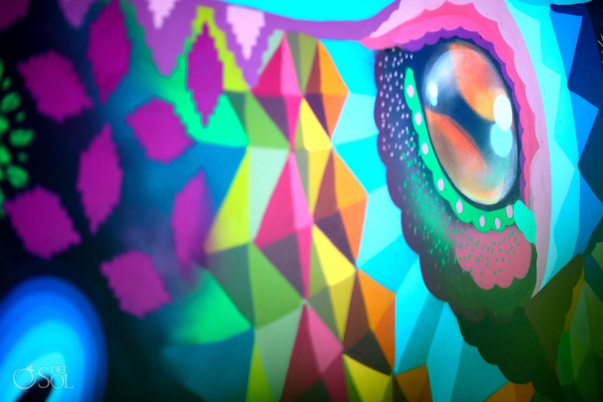 el pulpo mural by Riviera Maya graffiti artist Senkoe Andaz Mayakoba Riviera Maya Mexico