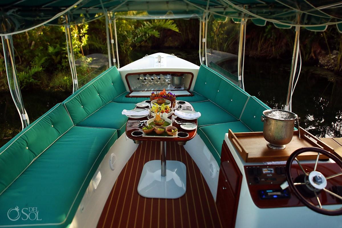 electric boat Andaz Mayakoba