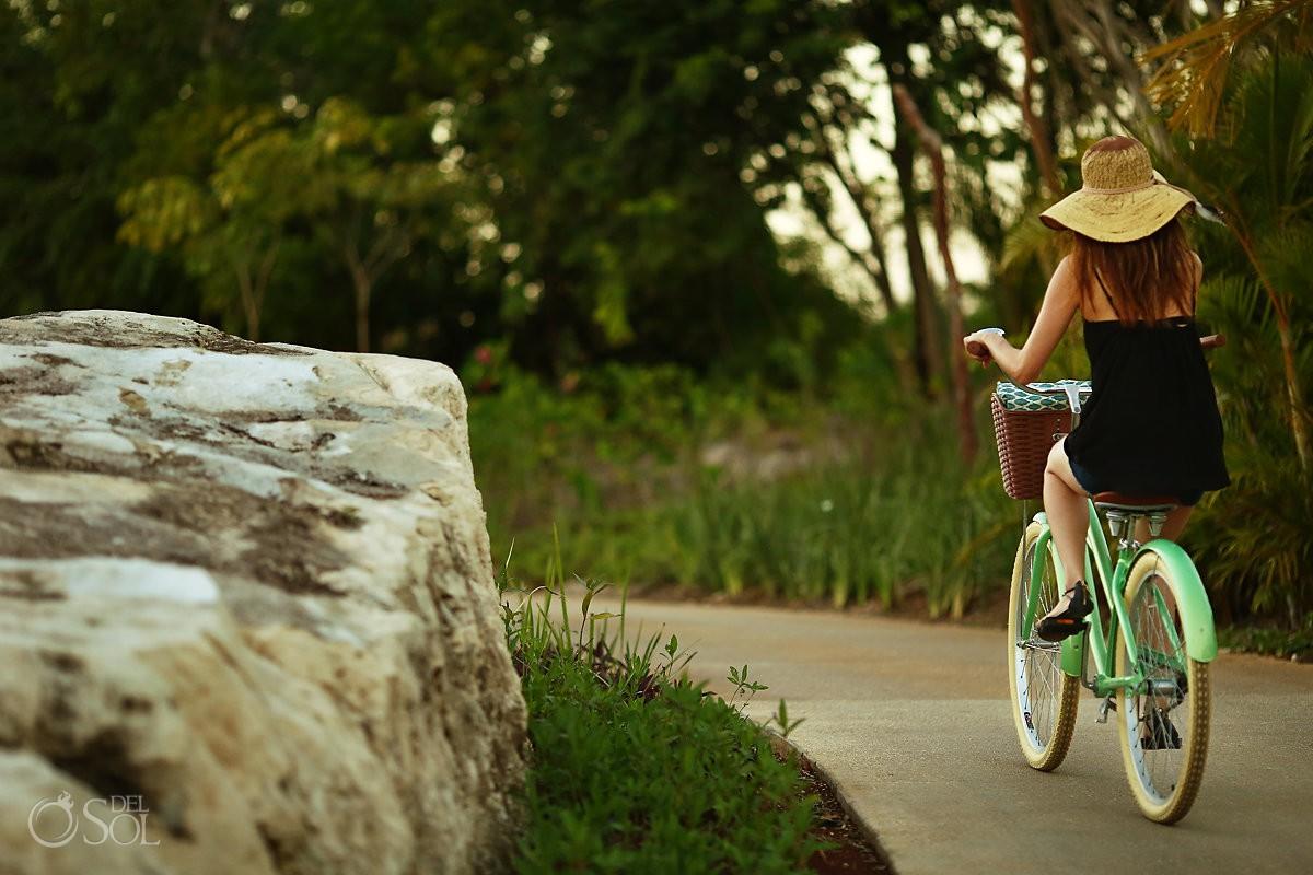 Andaz Mayakoba eco resort bike riding