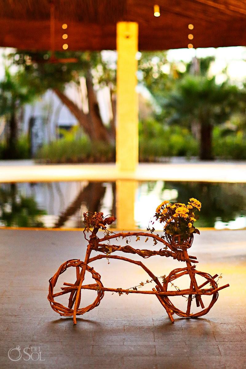 Andaz Mayakoba decoration wicker wood bicycle Playa del Carmen Mexico