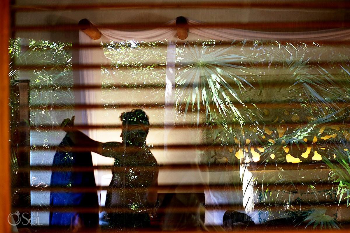 groom getting ready Playa del Carmen Boutique Wedding Viceroy Riviera Maya