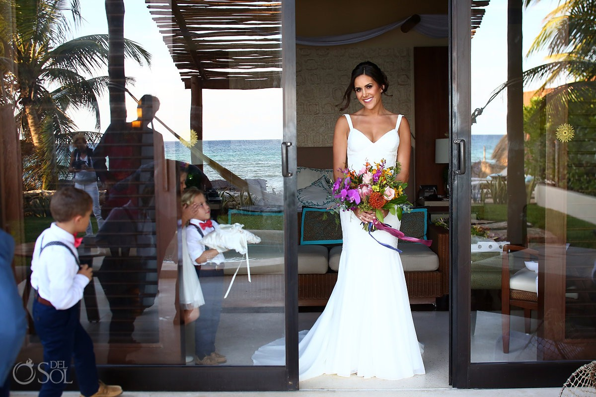 bride portrait getting ready Playa del Carmen Boutique Wedding Viceroy Riviera Maya