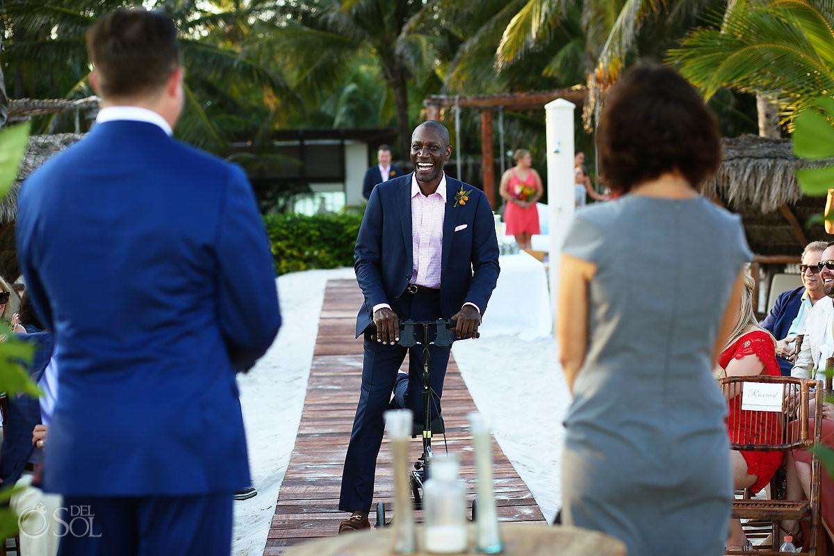 ceremony entrance Playa del Carmen Boutique Wedding Viceroy Riviera Maya