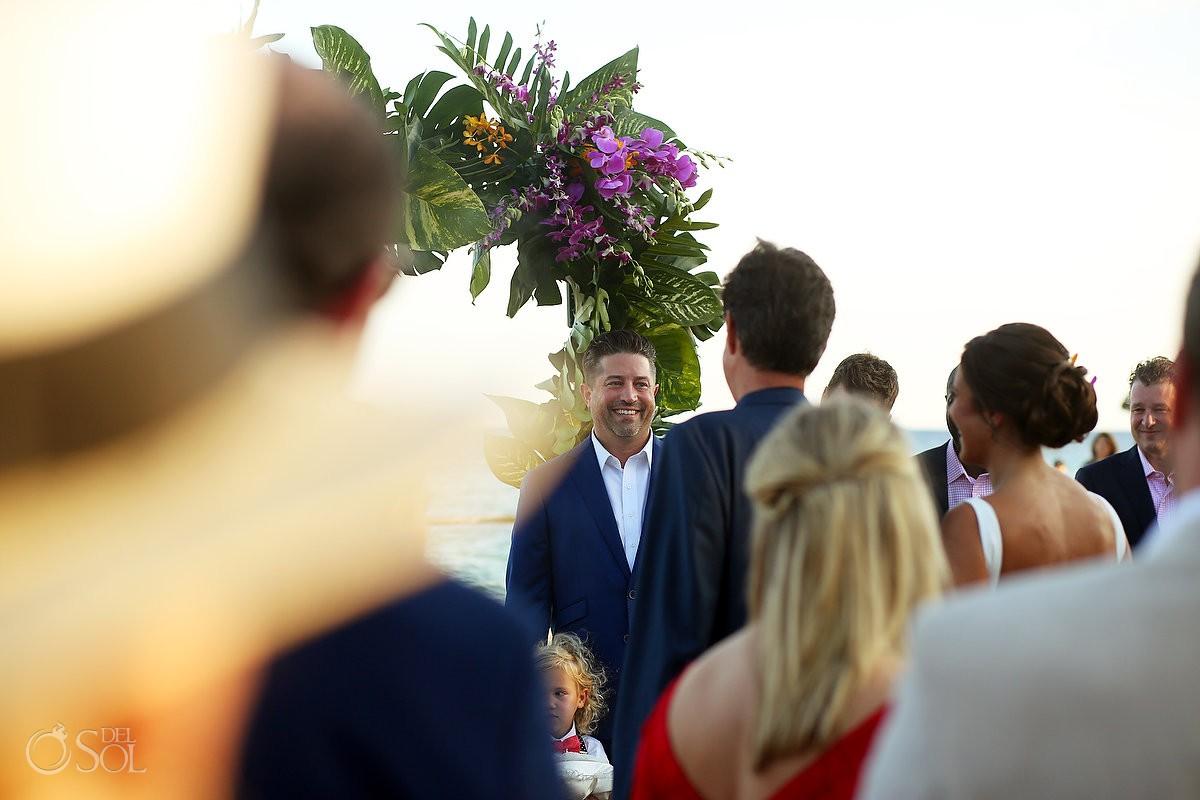 first look beach wedding ceremony Playa del Carmen Boutique hotel Viceroy Riviera Maya