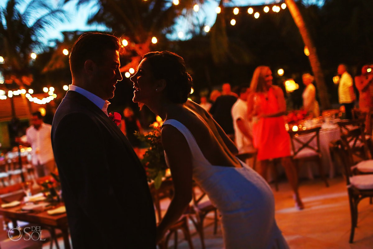 destination wedding reception portrait Playa del Carmen Boutique hotel Viceroy Riviera Maya