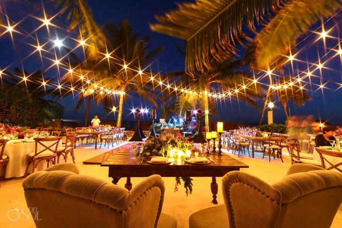 poolside destination wedding reception set up Playa del Carmen Boutique hotel Viceroy Riviera Maya