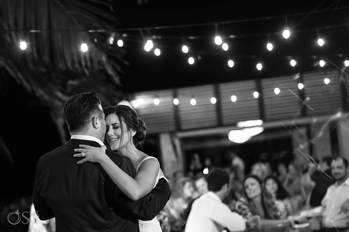 first dance poolside destination wedding reception Playa del Carmen Boutique hotel Viceroy Riviera Maya