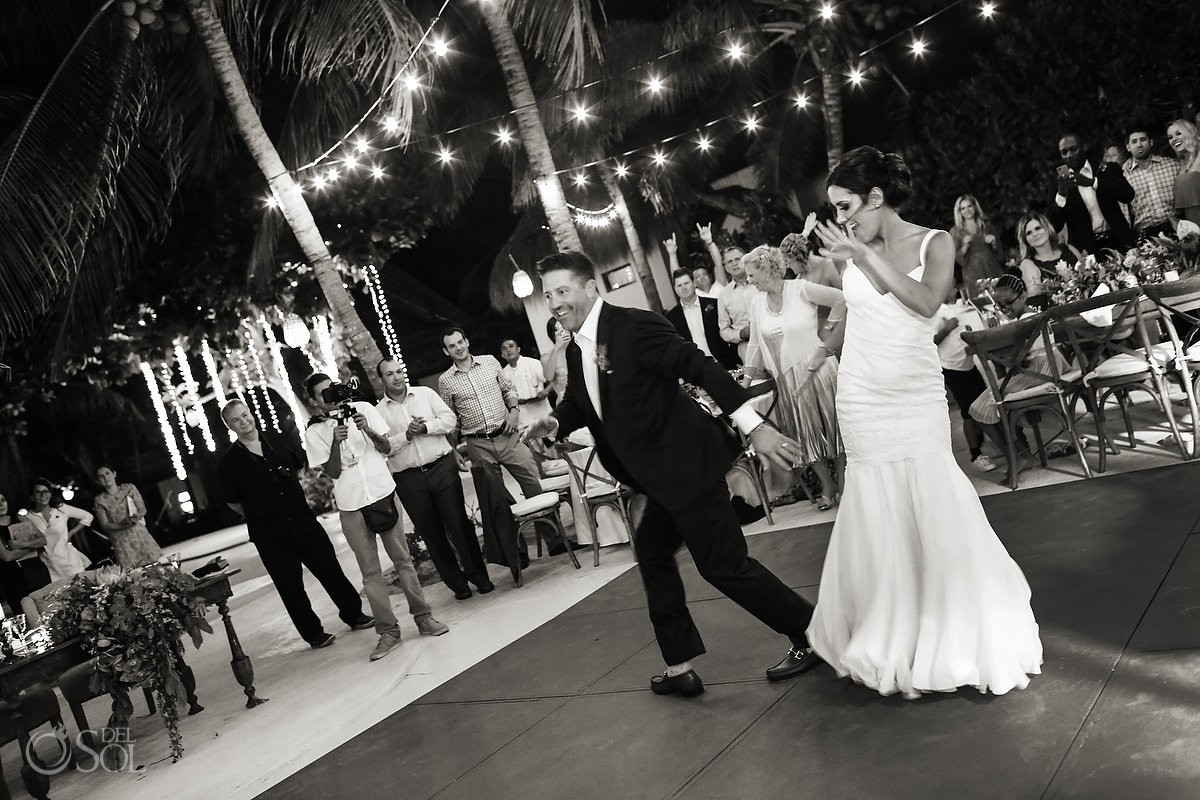 first dance destination wedding reception Playa del Carmen Boutique hotel Viceroy Riviera Maya