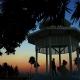 sunset gazebo silhouette Playa del Carmen Wedding - Paradisus Riviera Maya