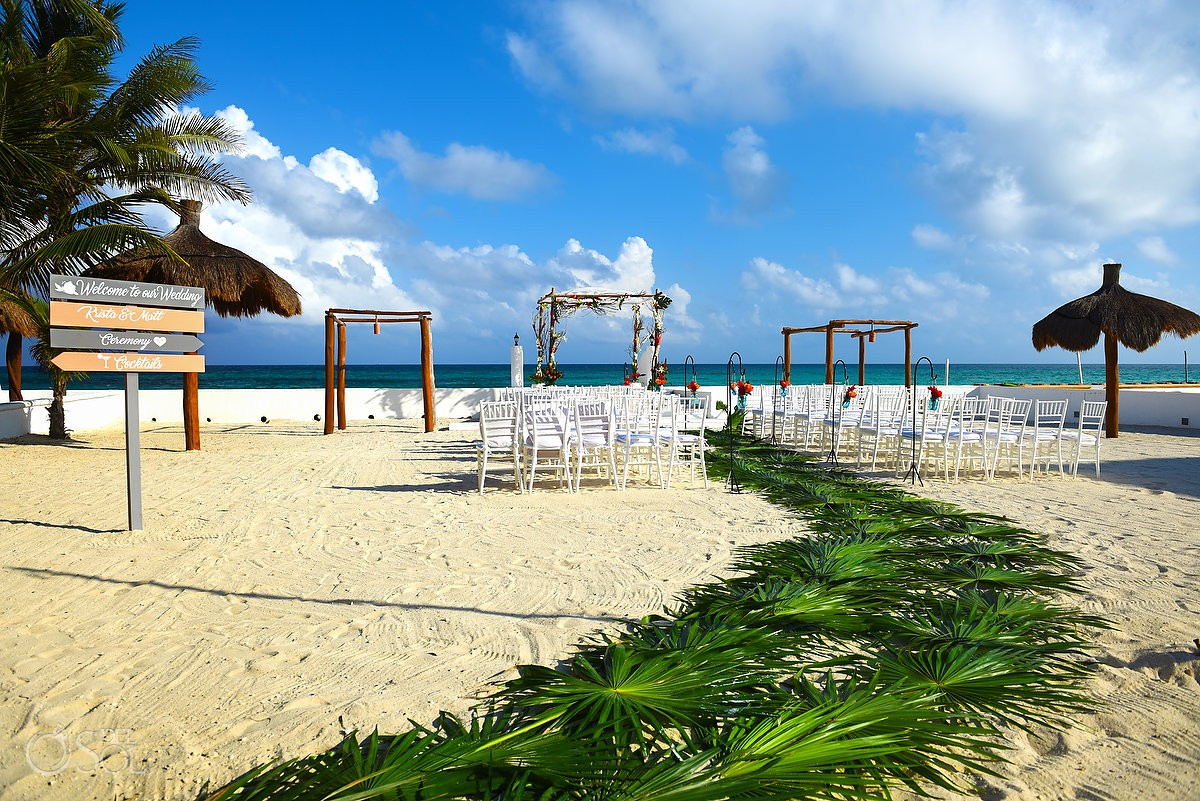 Destination wedding set up Hacienda del Secreto Riviera Maya