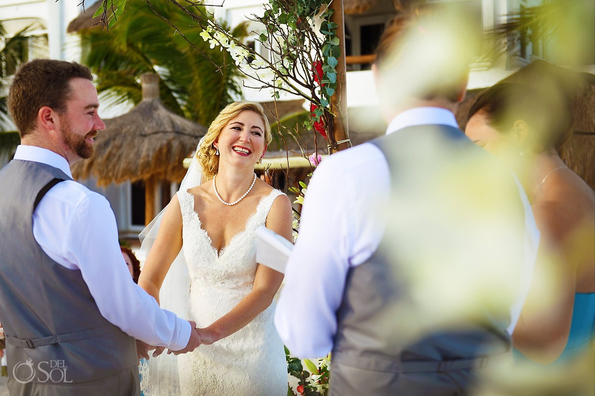 Wedding ceremony fun readings Destination Wedding Hacienda del Secreto Riviera Maya