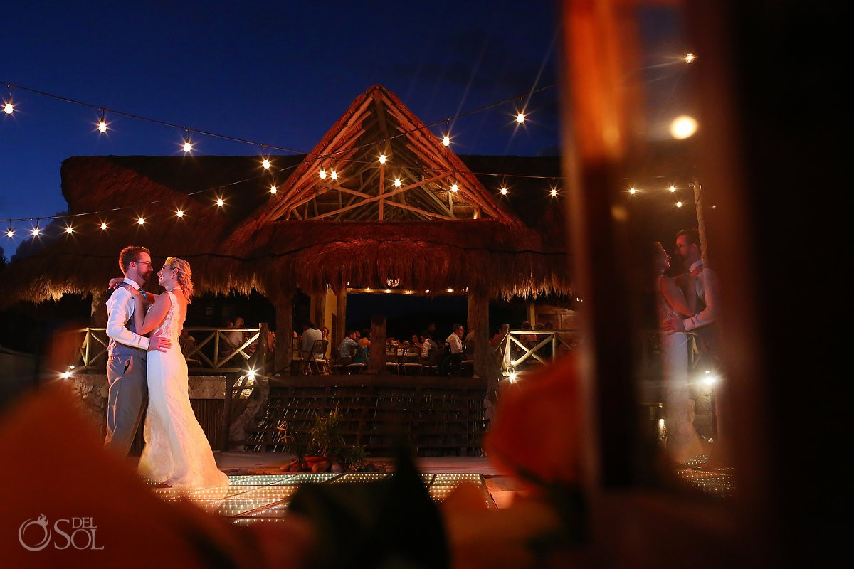 Lovely first dance under blue sky Destination Wedding Hacienda del Secreto Riviera Maya