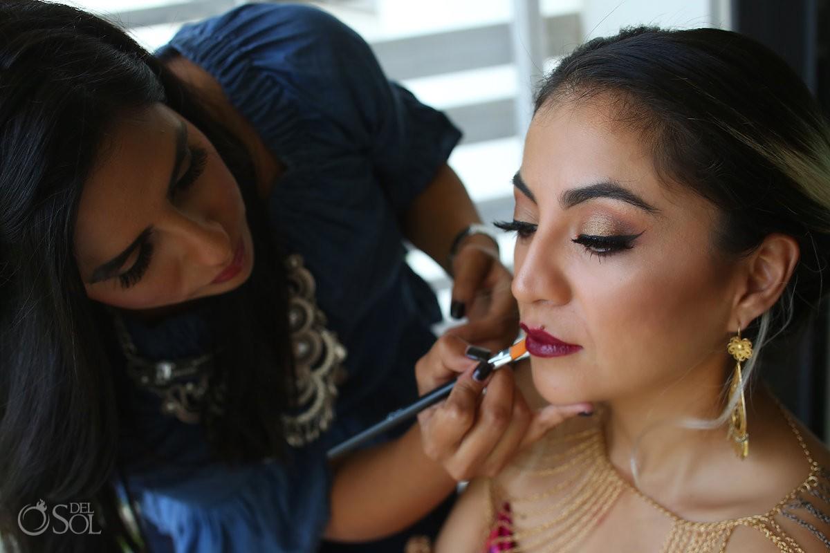 Diana Villalobos Barrera make up by Sara Tamargo, Andaz Mayakoba Riviera Maya Mexico