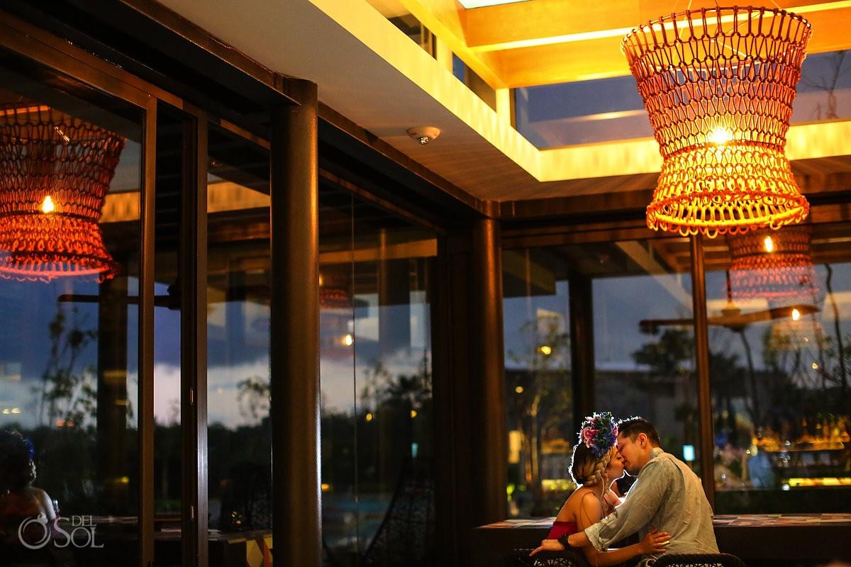 Best romantic venue couple portrait, Andaz Mayakoba Riviera Maya Mexico